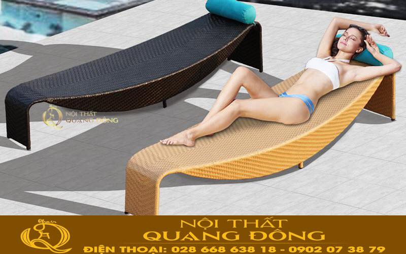 Mẫu giường nằm thư giãn tắm nắng cho hồ bơi
