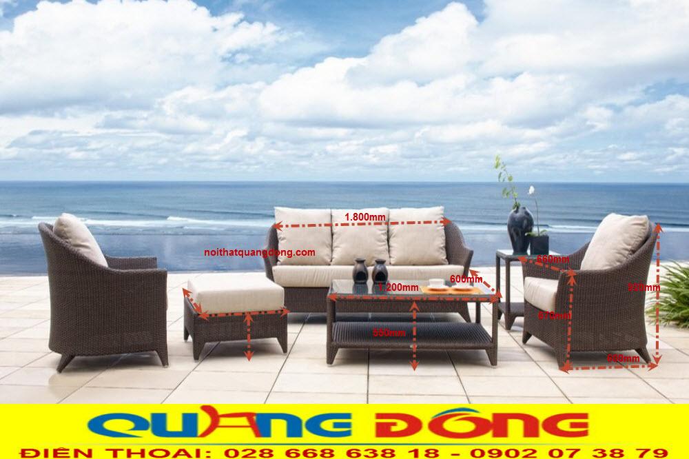 bộ sofa giả may QD-651 được phối rất đều và đẹp cân đối cho mọi góc nhìn