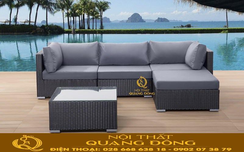 Tiêu chuẩn đo lường kích thước cân xứng trong bộ sản phẩm sofa QD-634