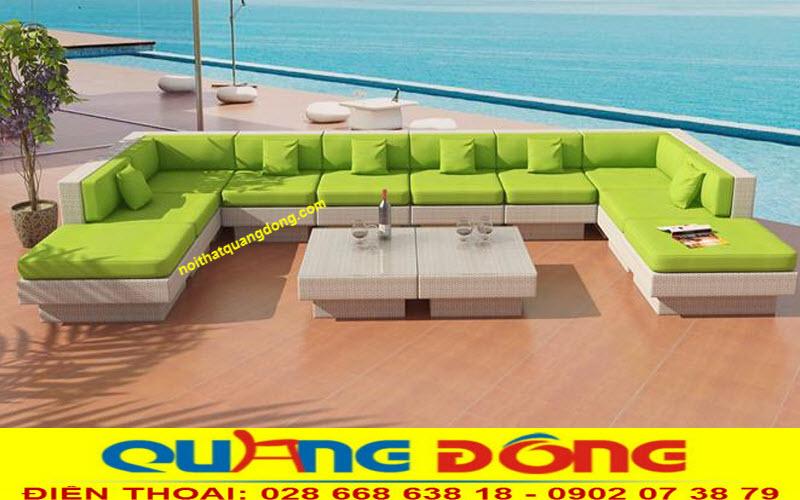 Tạo sự tao nhã, chỉnh chu cho ngôi nhà bạn với sofa mây nhựa QD-643