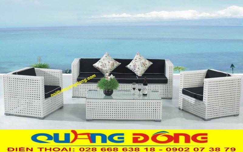 mẫu sofa mây nhựa sang trọng tinh tế QD-645