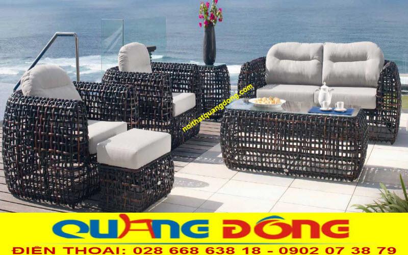 sắc thái tự nhiên lịch lãm và sang trọng của sofa giả mây QD-650