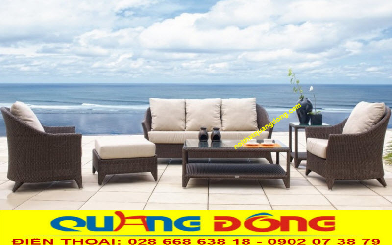 sofa mây nhựa QD-651 được yêu thích bởi sự giản dị mà tinh tế