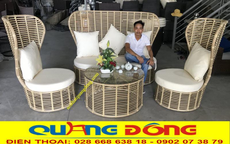 Mẫu sofa giả mây QD-654 cho những ai yêu thích nét cổ điển